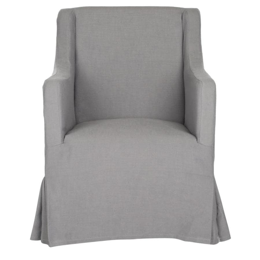 Safavieh Sandra Casual Gray Linen Accent Chair