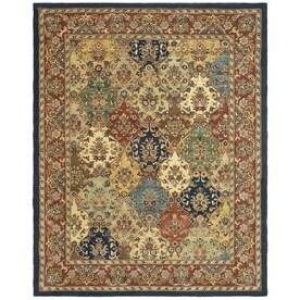 Safavieh Heritage Abaya Multi/Burgundy Indoor Handcrafted Oriental Area Rug (Common: 8 x 10; Actual: 8-ft W x 10-ft L)