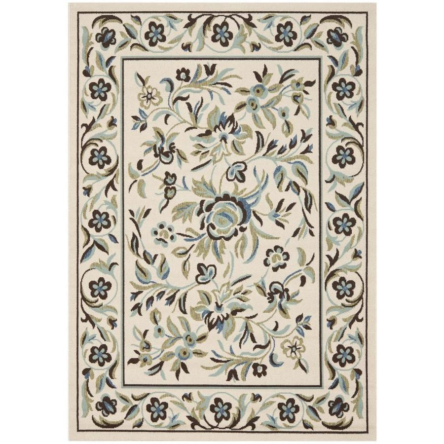 Safavieh Veranda Cream and Green Rectangular Indoor Machine-Made Area Rug (Common: 8 x 11; Actual: 96-in W x 134-in L x 0.5-ft Dia)
