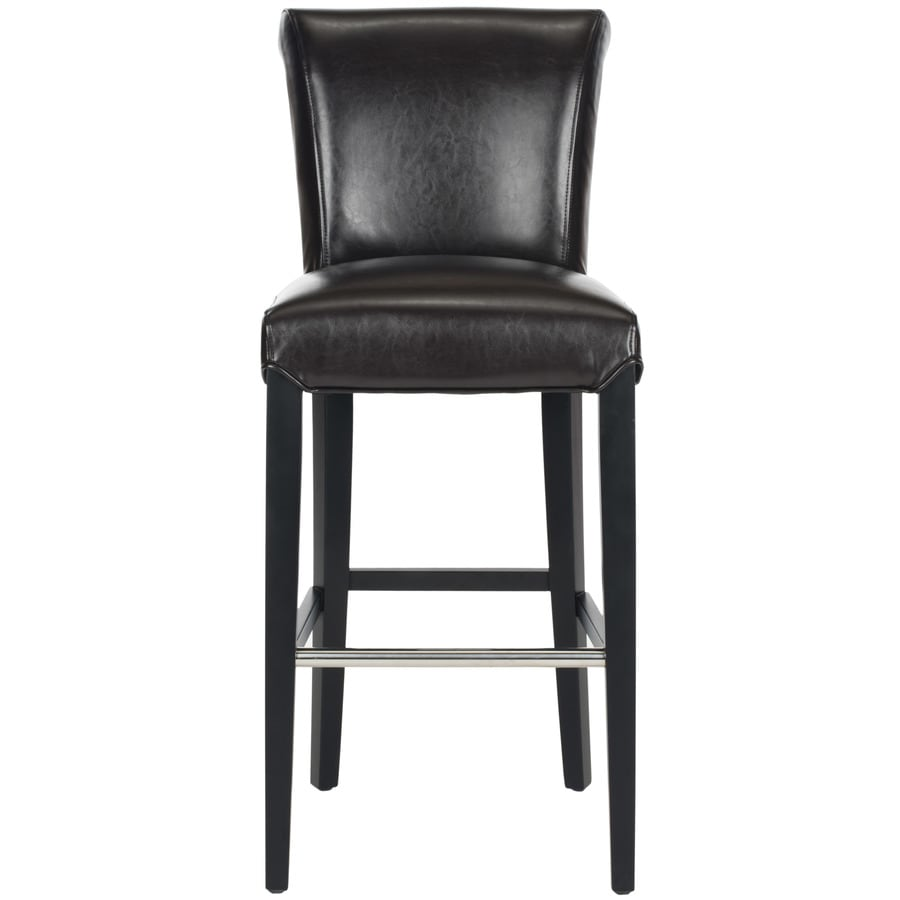 Safavieh Mercer Brown 29.3-in Bar Stool (27-in to 35-in)