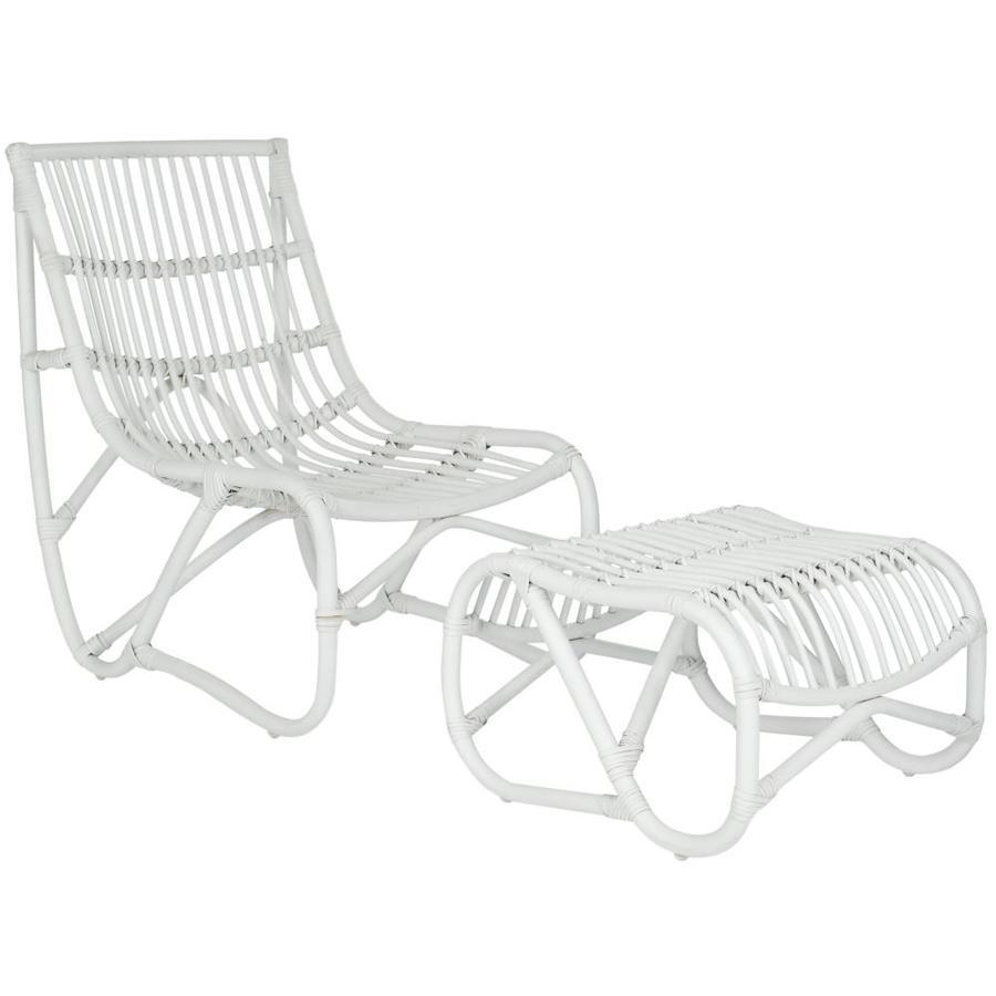 Safavieh Shenandoah Coastal White Accent Chair
