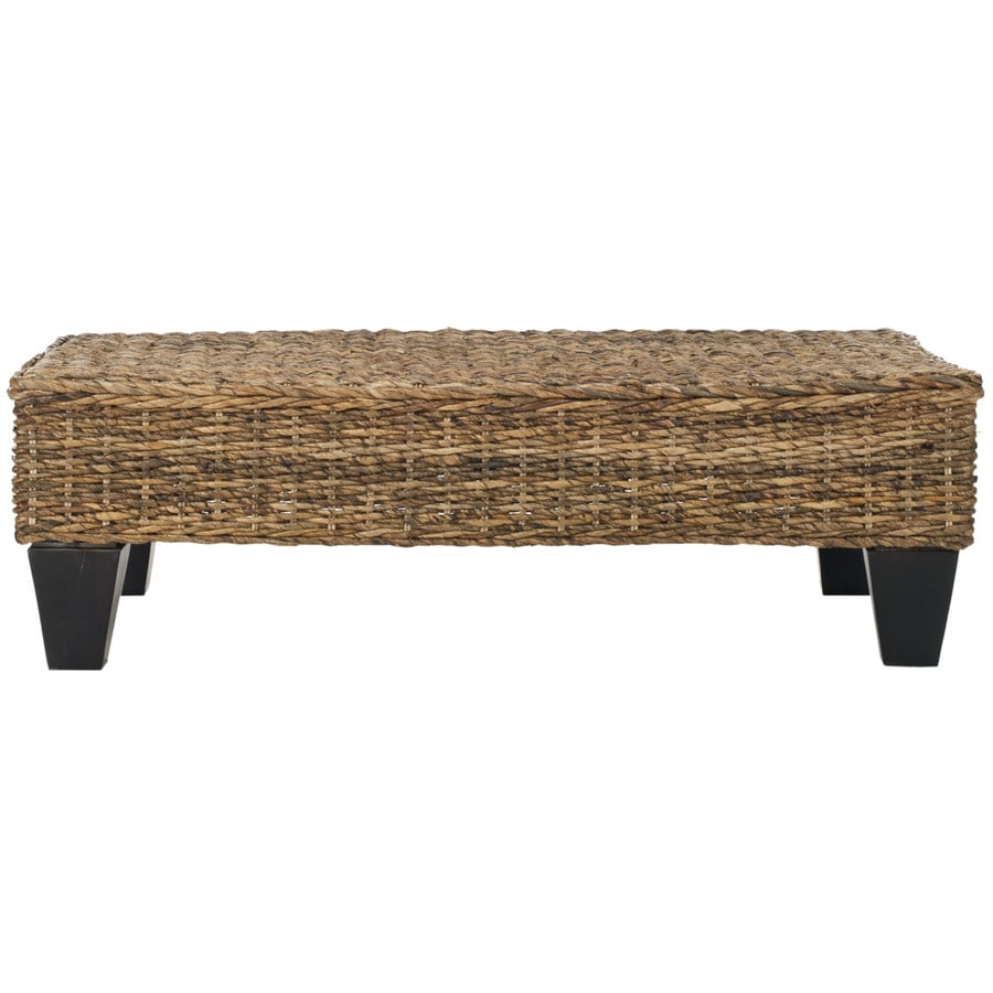 Shop Safavieh Leary Contemporary Natural Accent Bench At
