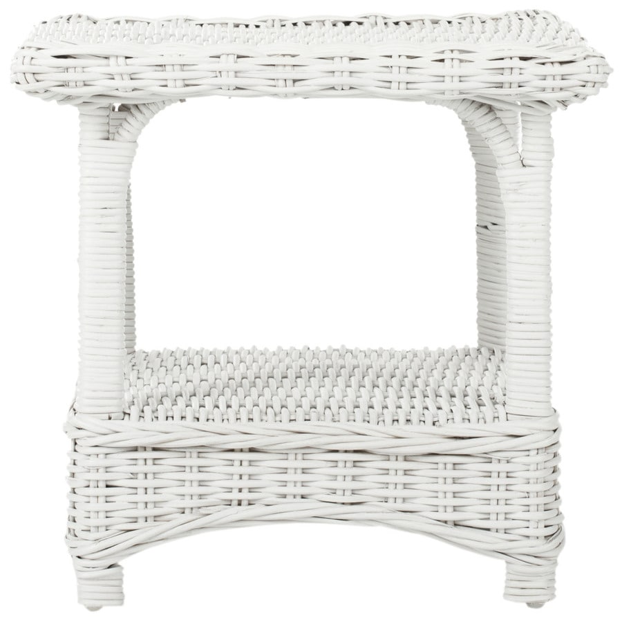Safavieh Fox Home White Bamboo Square End Table