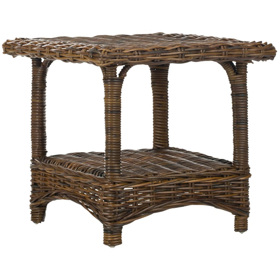 Safavieh Fox Home Brown Bamboo Square End Table
