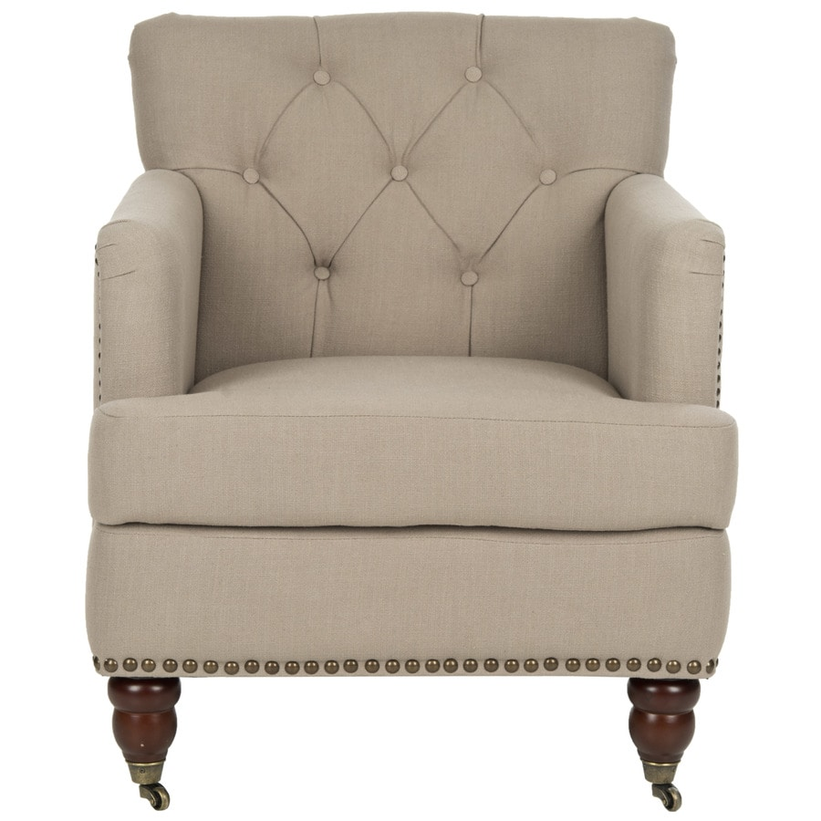 Safavieh Colin Casual True Taupe Linen Accent Chair
