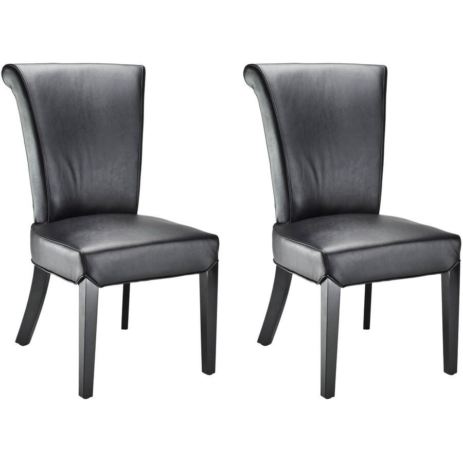 Safavieh Set of 2 Mercer Black Side Chair
