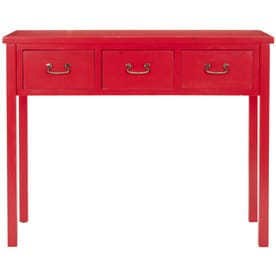 Safavieh Cindy Red Wood Casual Console Table