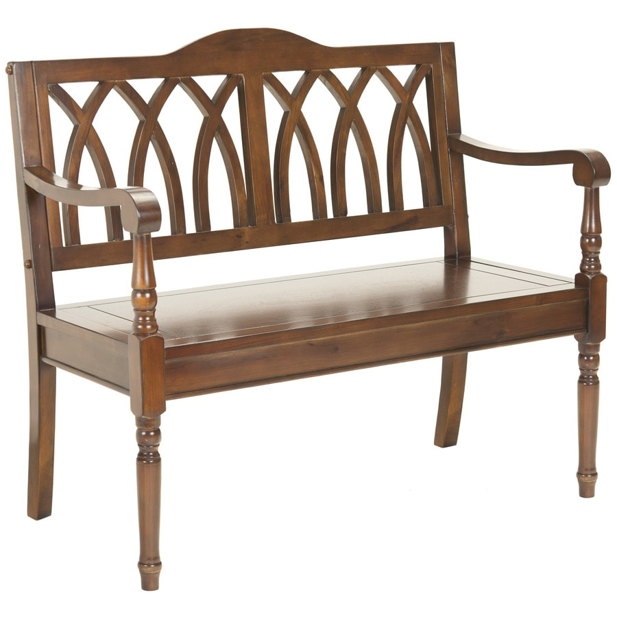 Indoor Foyer Bench : Shop safavieh american home brown indoor entryway bench at