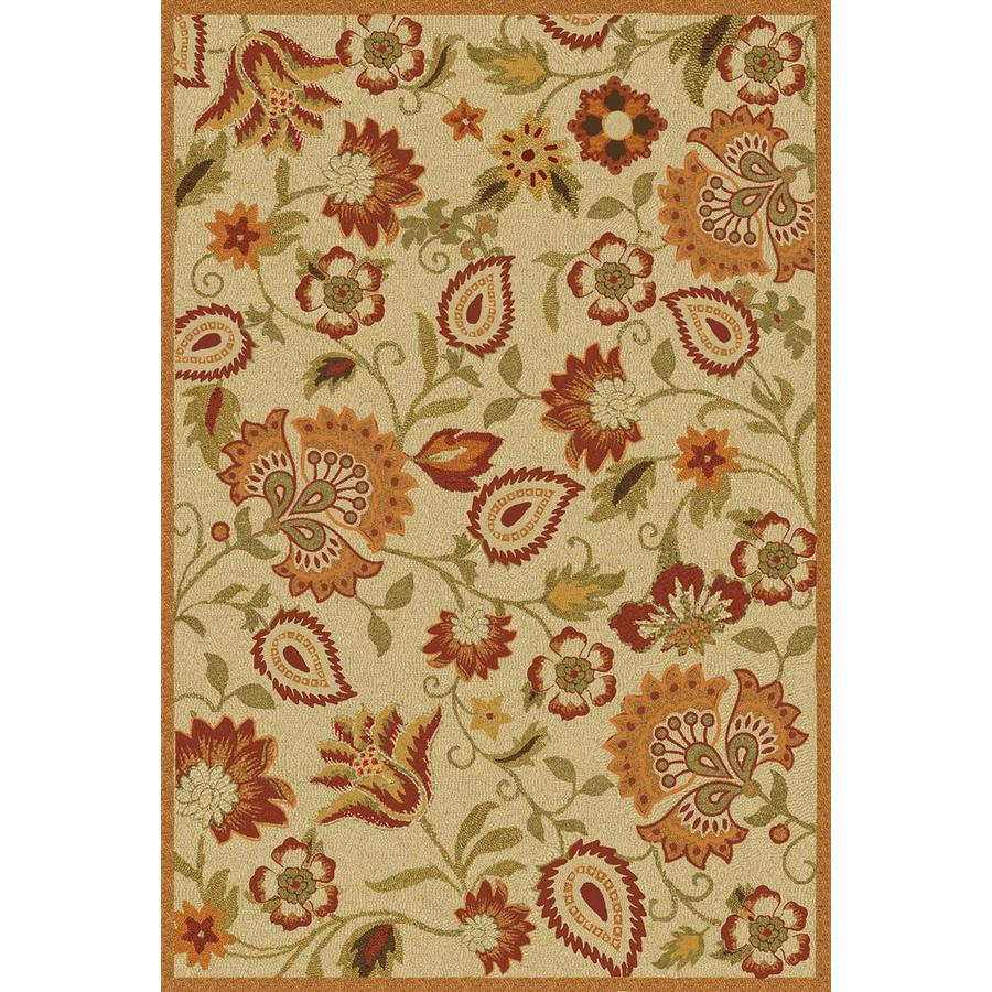 Safavieh Blossom Rectangular Cream Floral Hand-Hooked Wool Area Rug (Common: 8-ft x 10-ft; Actual: 8-ft x 10-ft)