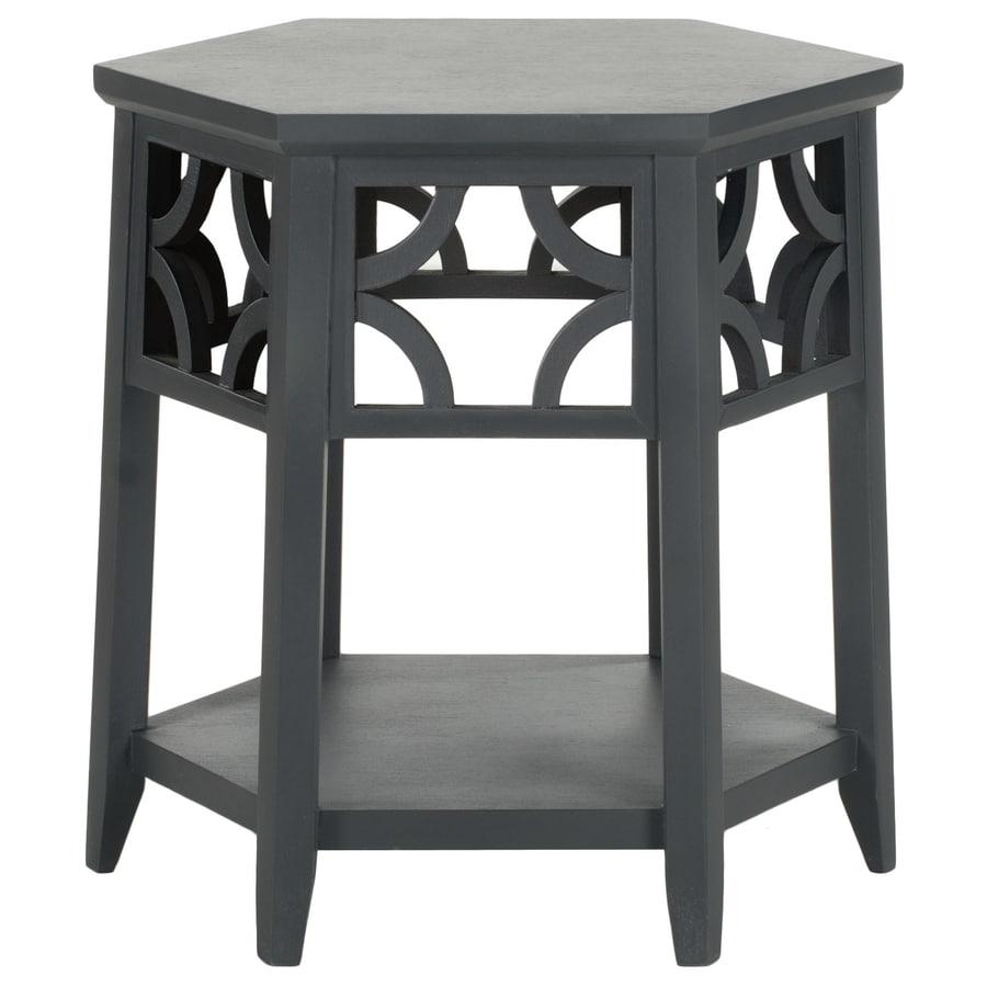 Safavieh American Home Charcoal Grey Hexagon End Table
