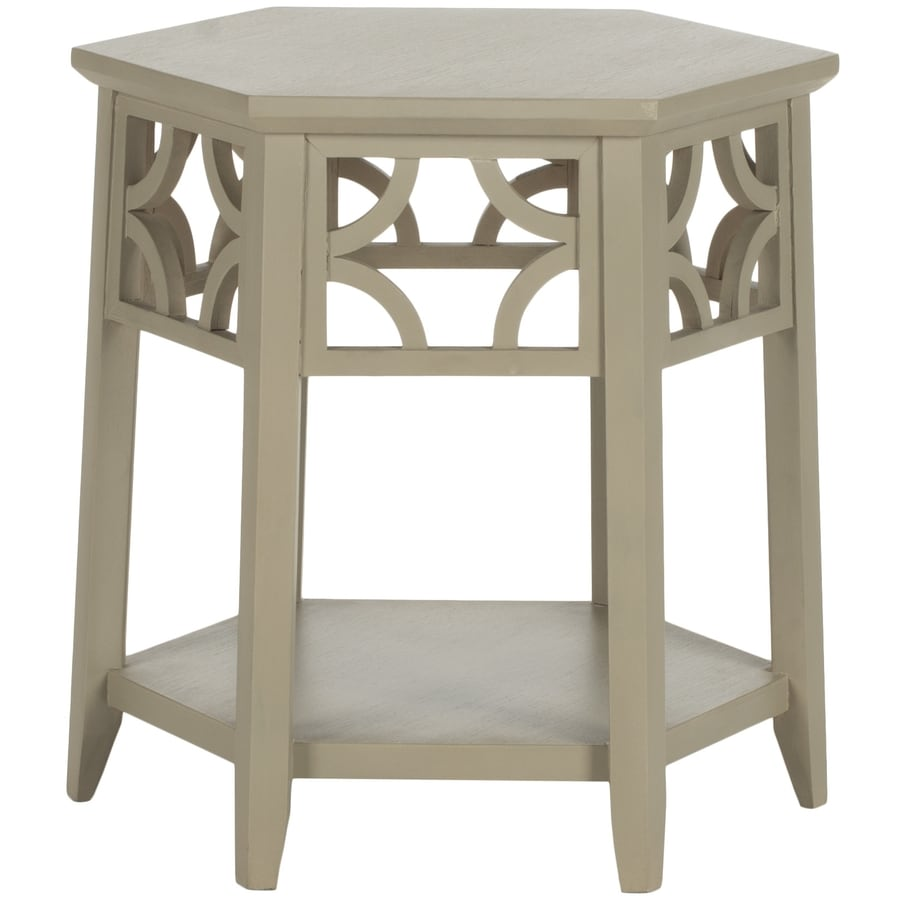 Safavieh American Home Pearl Taupe Hexagon End Table