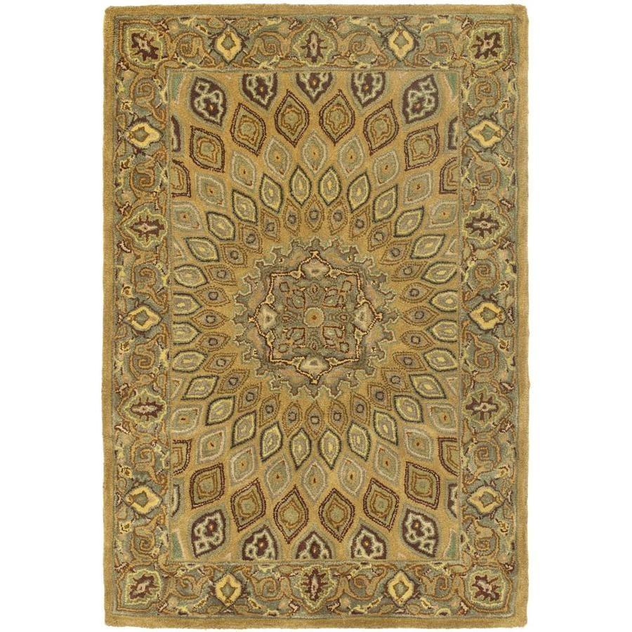 Safavieh Heritage Chador Light Brown/Gray Indoor Handcrafted Oriental Area Rug (Common: 4 x 6; Actual: 4-ft W x 6-ft L)
