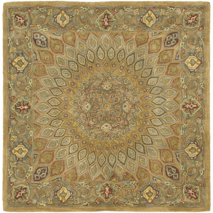 Safavieh Heritage Chador Light Brown/Gray Square Indoor Handcrafted Oriental Area Rug (Common: 6 x 6; Actual: 6-ft W x 6-ft L)