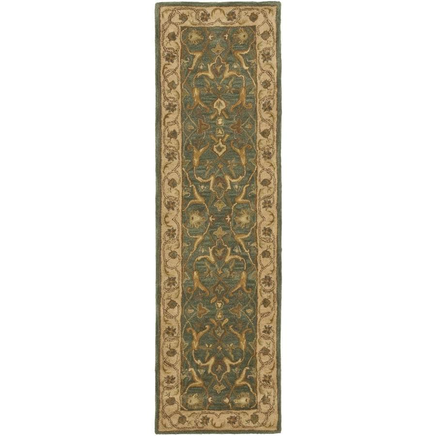 Safavieh Heritage Agal Blue/Beige Rectangular Indoor Handcrafted Throw Rug (Common: 2 x 5; Actual: 2-ft W x 3-ft L)