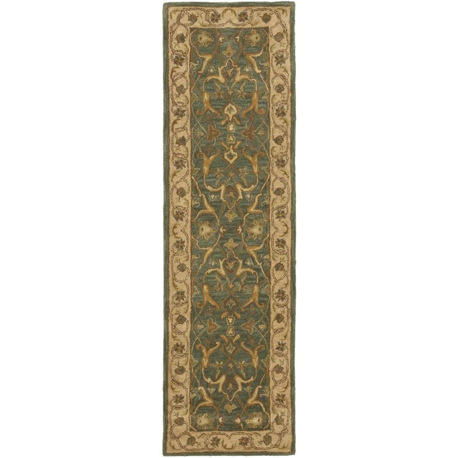 Safavieh Heritage Agal Blue/Beige Rectangular Indoor Handcrafted Runner (Common: 2 x 8; Actual: 2.25-ft W x 8-ft L)