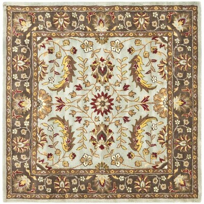Heritage Gujara Blue Brown Square Indoor Handcrafted Oriental Area Rug Common 6 X Actual Ft W L
