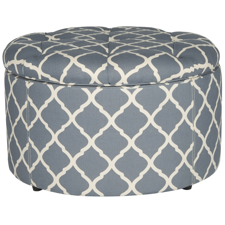 Safavieh Mercer Grey Round Storage Ottoman