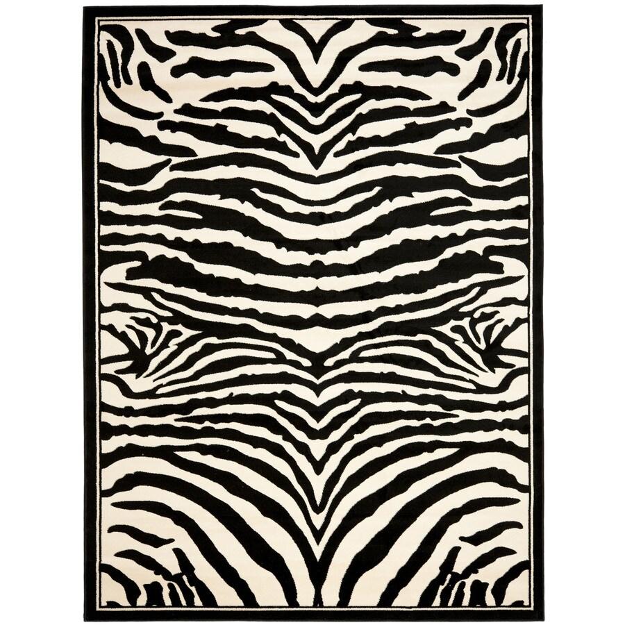 Safavieh Lyndhurst Zebra White/Black Indoor Animals Area Rug (Common: 8 x 11; Actual: 8-ft W x 11-ft L)