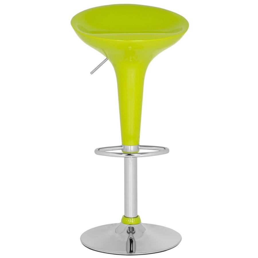 Safavieh Fox Lime Green 31.7-in Adjustable Kitchen Stool