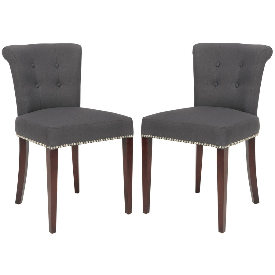 Safavieh Set of 2 Mercer Charcoal Side Chairs