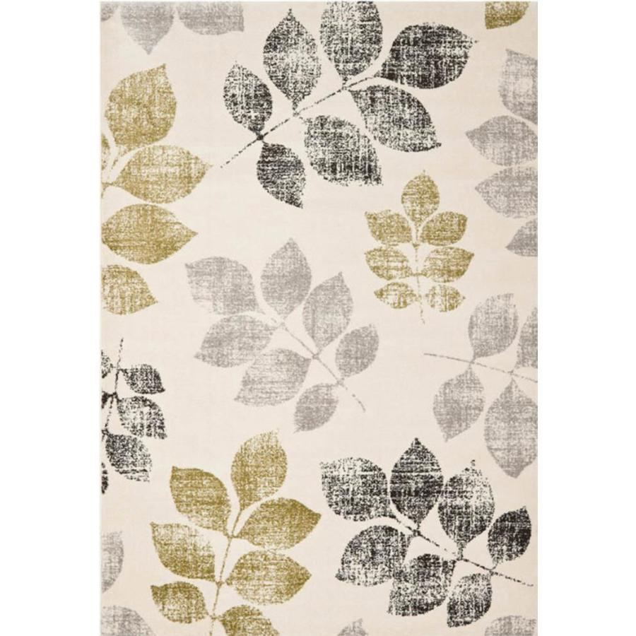 Safavieh Agoro Ivory and Rust Rectangular Indoor Machine-Made Area Rug (Common: 5 x 8; Actual: 63-in W x 91-in L x 0.67-ft Dia)