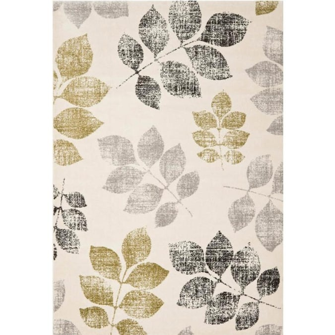 Safavieh Porcello Agoro 5 X 8 Ivory Green Indoor Floral Botanical Area Rug In The Rugs Department At Lowes Com