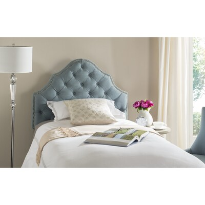 Safavieh Arebelle Blue Twin Synthetic Upholstered Headboard