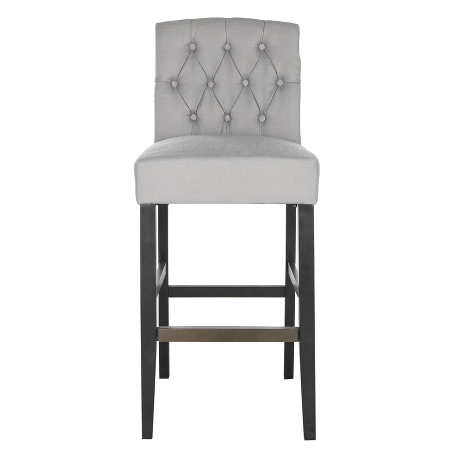 Safavieh Mercer Grey 30.7-in Bar Stool (27-in to 35-in)