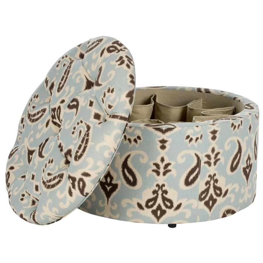 Safavieh Tanisha Casual Multi/Beige Round Storage Ottoman