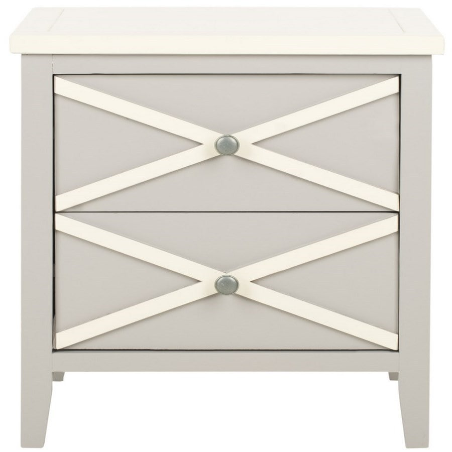 Safavieh American Home Grey/White Poplar Rectangular End Table
