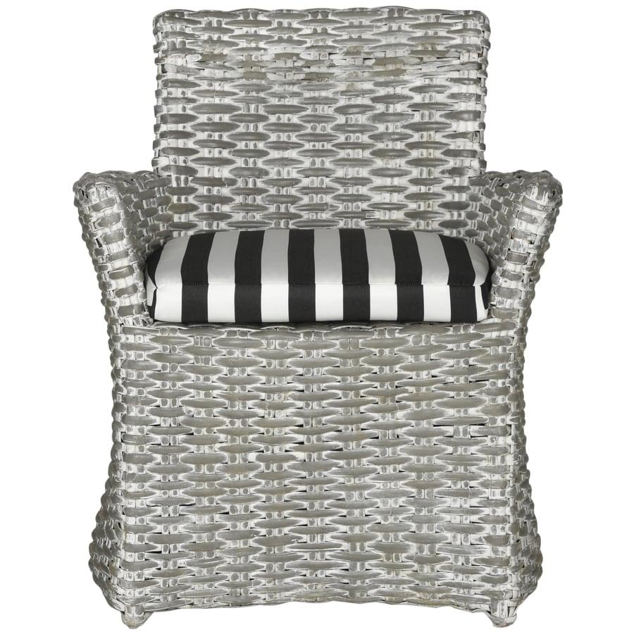 Safavieh Set Of 1 Fox Gray White Wash/Black&White Stripe