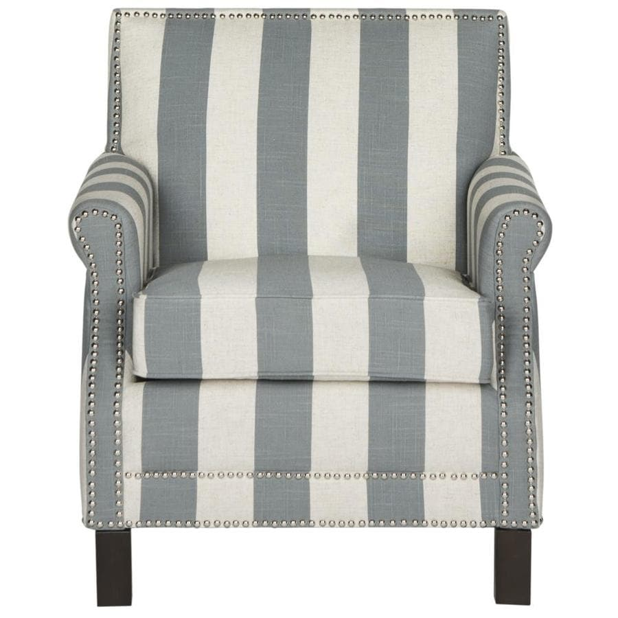 Safavieh Easton Casual Gray/White Stripe Accent Chair