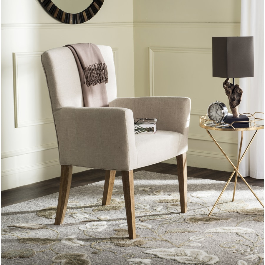Safavieh Dale Casual Hemp/White Wash Linen Accent Chair