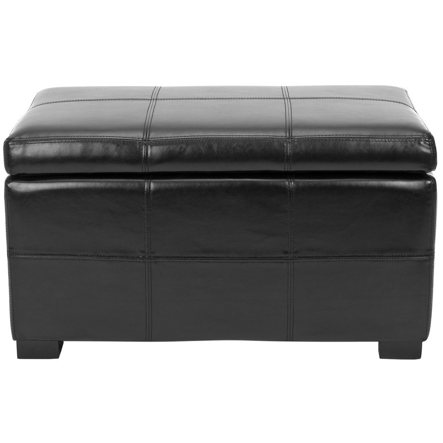 Shop Safavieh Madison Small Transitional Black Storage Bench At
