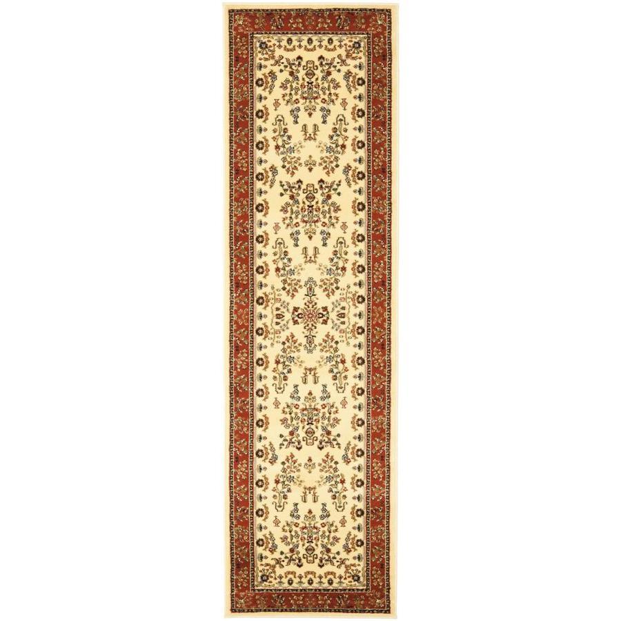Safavieh Lyndhurst Hamadan Ivory/Rust Indoor Oriental Runner (Common: 2 x 12; Actual: 2.25-ft W x 12-ft L)