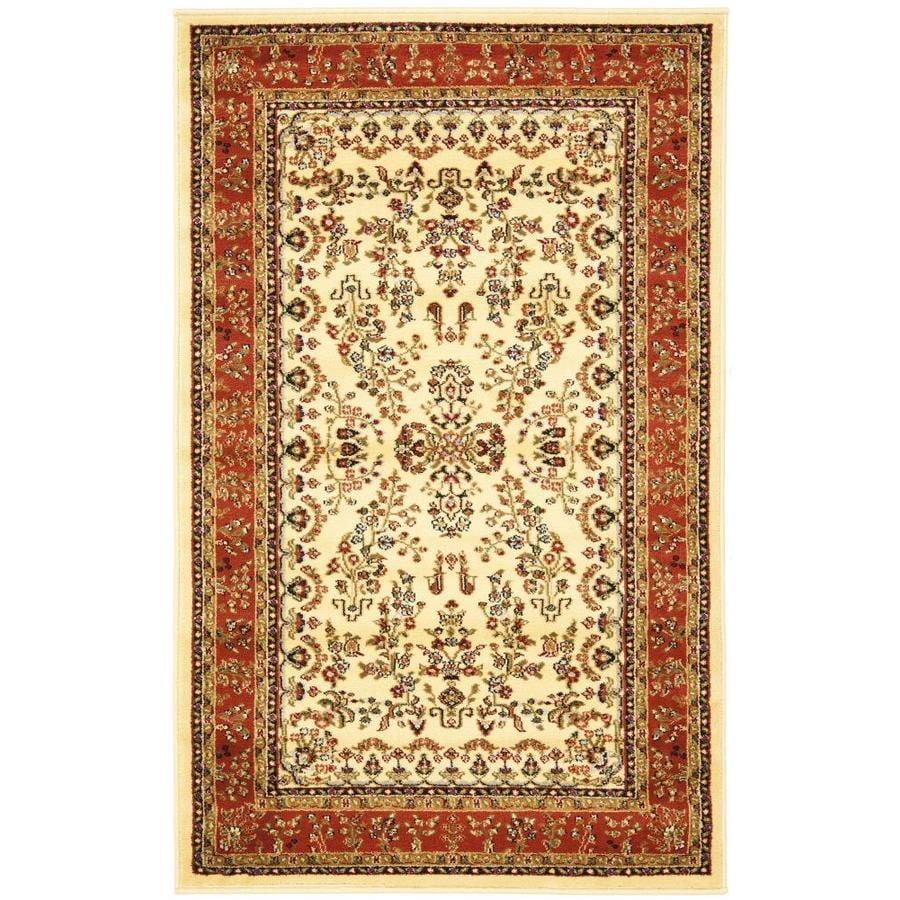 Safavieh Lyndhurst Hamadan Ivory/Rust Indoor Oriental Throw Rug (Common: 3 x 5; Actual: 3.25-ft W x 5.25-ft L)