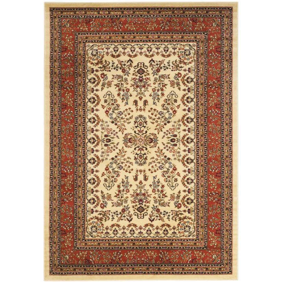 Safavieh Lyndhurst Hamadan Ivory/Rust Indoor Oriental Area Rug (Common: 5 x 8; Actual: 5.25-ft W x 7.5-ft L)