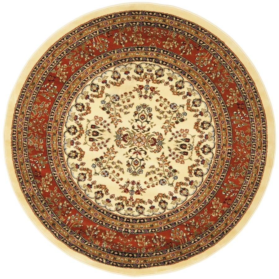 Safavieh Lyndhurst Hamadan Ivory Rust Round Indoor Area Rug Common 5 X Actual 3 Ft Dia
