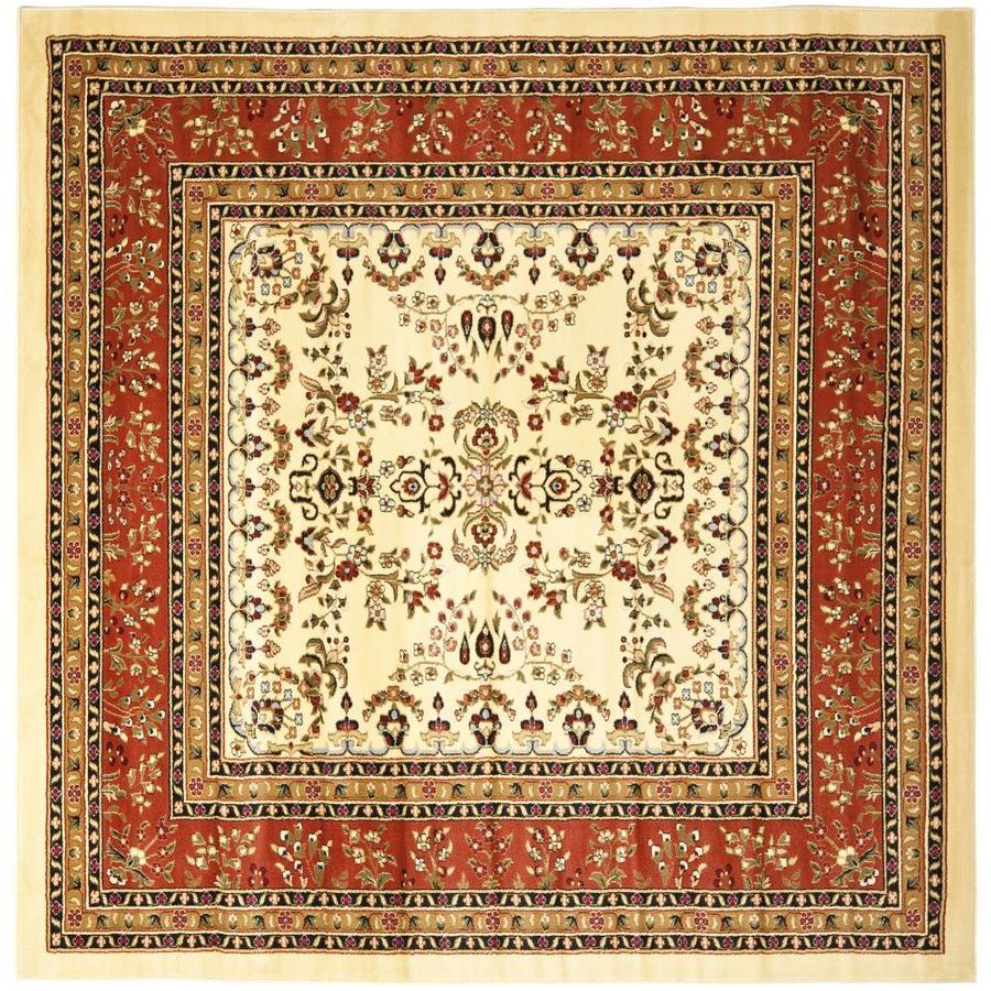 Safavieh Lyndhurst Hamadan Ivory/Rust Square Indoor Machine-made Oriental Area Rug (Common: 8 x 8; Actual: 8-ft W x 8-ft L)