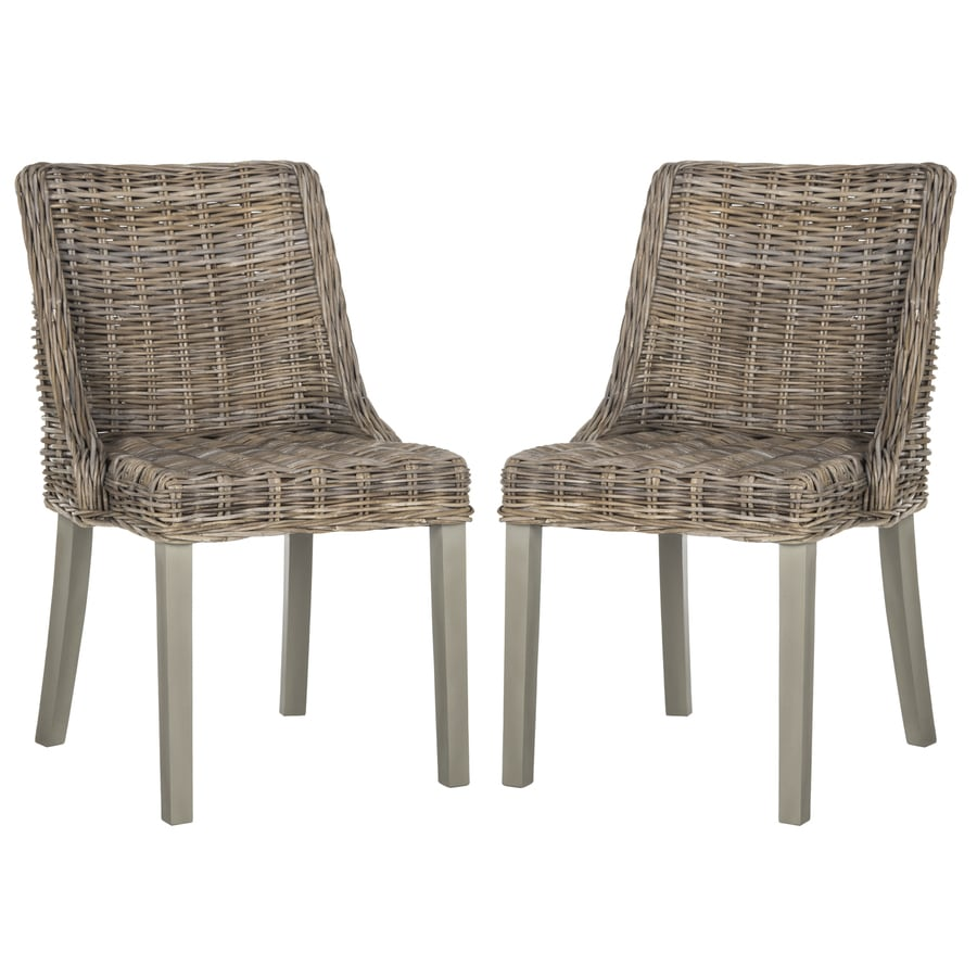 Safavieh Set of 2 Caprice Contemporary Brown Side Chairs