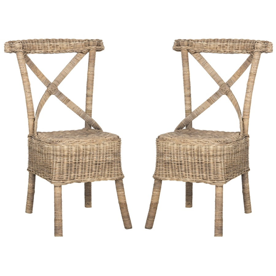 Safavieh Set of 2 Southeast Asia Natural Side Chairs