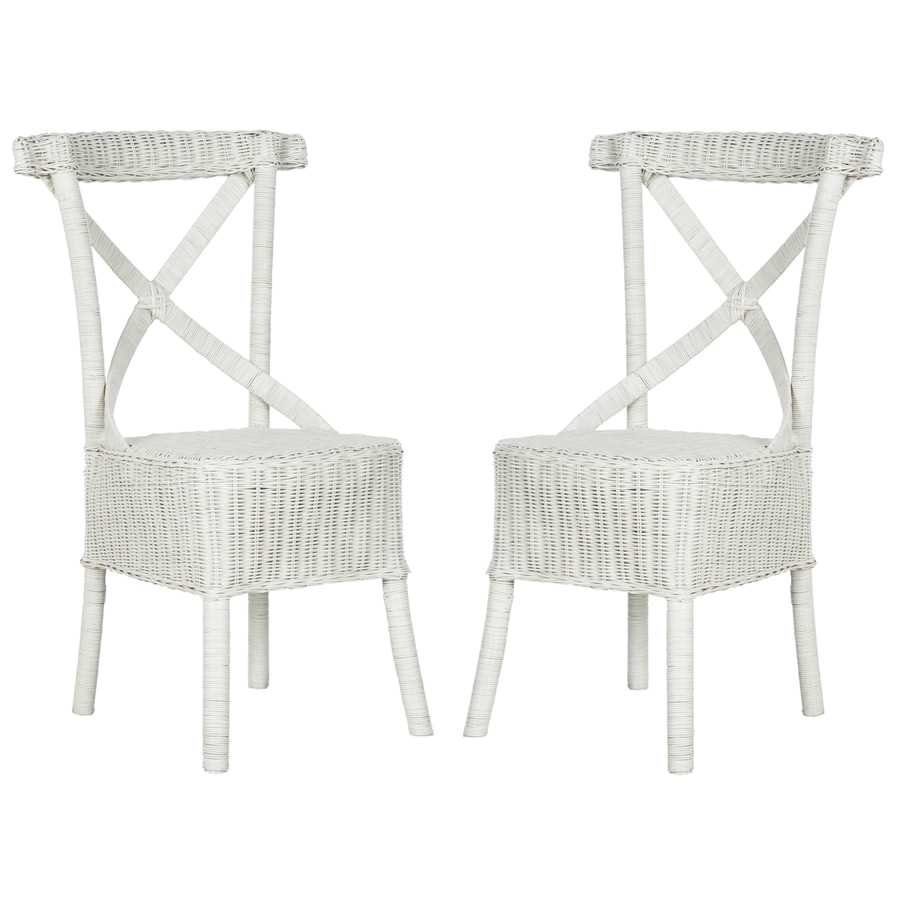 Safavieh Set of 2 Katell Contemporary White Side Chairs