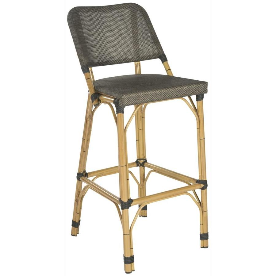 Safavieh Deltana Rattan Bar Stool Chair With Mesh Seat