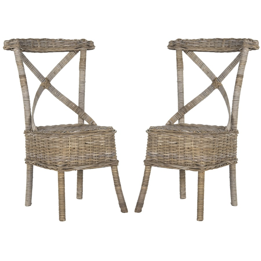 Safavieh Set of 2 Southeast Asia Gray Side Chairs