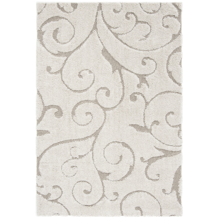 Safavieh Florida Scroll Cream Beige Indoor Tropical Area Rug Common 6 X
