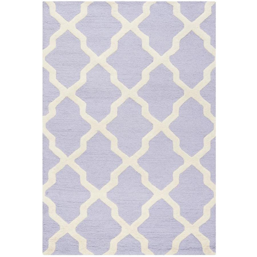 Safavieh Cambridge Rectangular Purple Transitional Tufted Wool Accent Rug (Common: 3-ft x 5-ft; Actual: 36-in x 60-in)