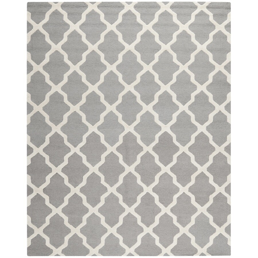 Safavieh Cambridge Black and Ivory Rectangular Indoor Tufted Area Rug (Common: 8 x 10; Actual: 96-in W x 120-in L x 0.67-ft Dia)