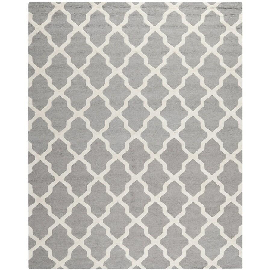 Safavieh Cambridge Black and Ivory Rectangular Indoor Tufted Area Rug (Common: 9 x 12; Actual: 108-in W x 144-in L x 0.75-ft Dia)