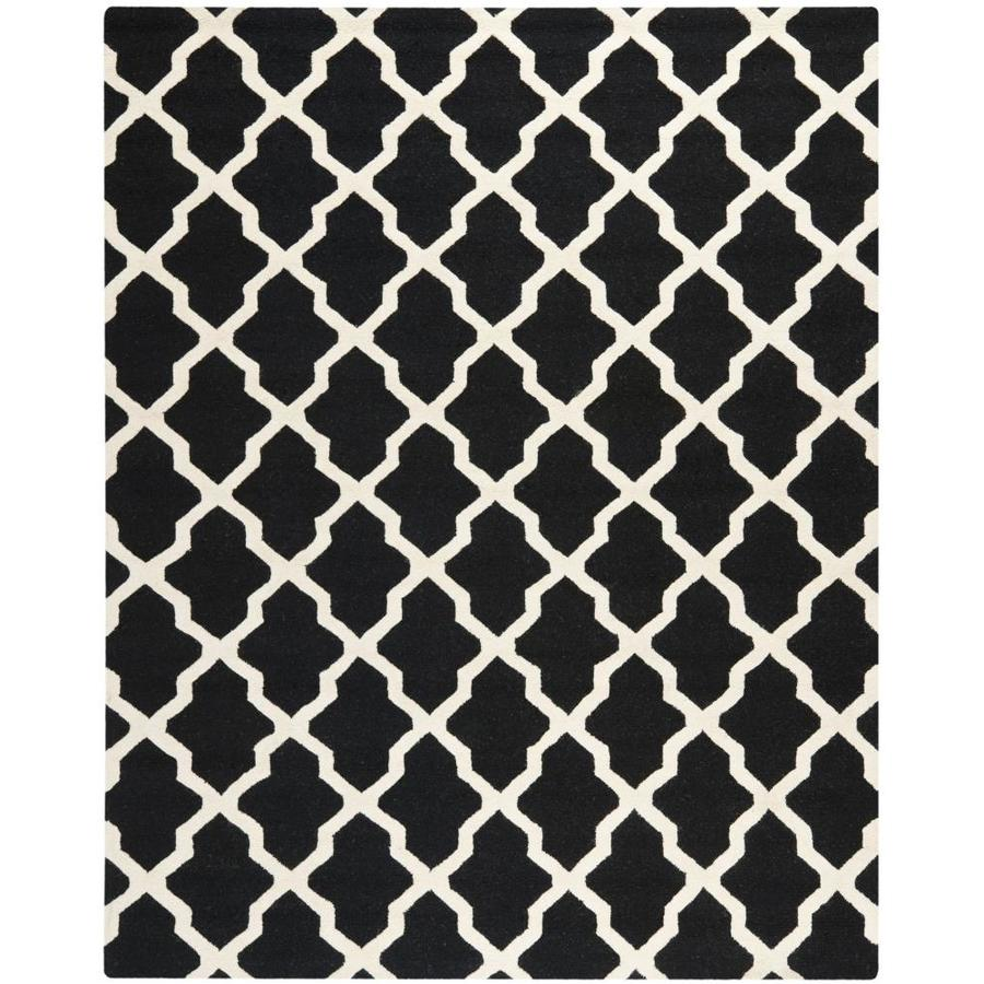 Safavieh Cambridge Navy Blue and Ivory Rectangular Indoor Tufted Area Rug (Common: 8 x 10; Actual: 96-in W x 120-in L x 0.67-ft Dia)