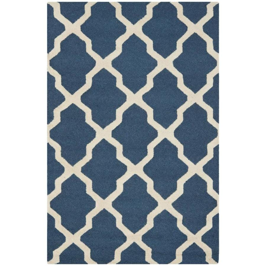 Shop Safavieh Cambridge Navy Blue And Ivory Rectangular